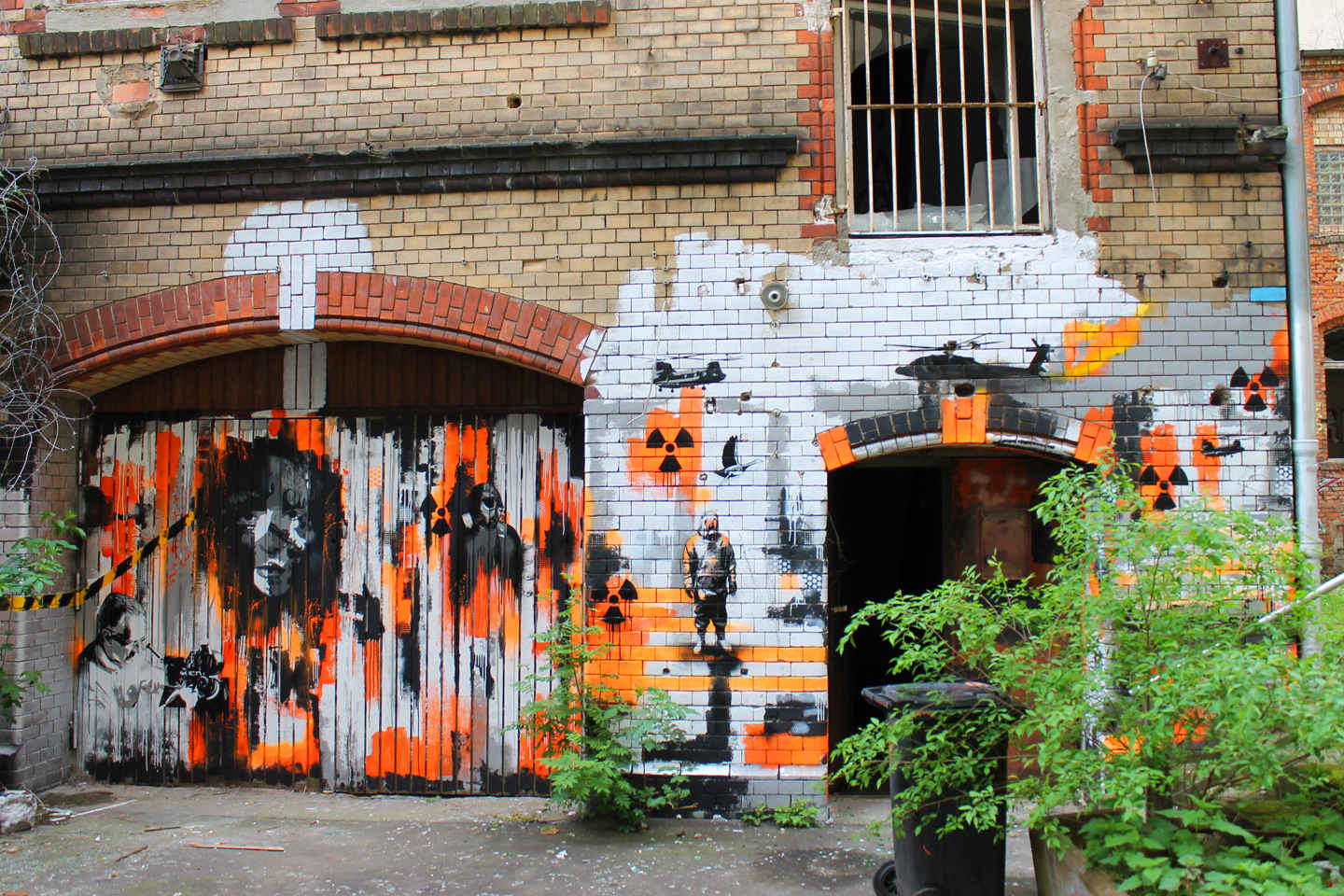Street Art in a secret abandoned factory in Berlin by Plotbot KEN