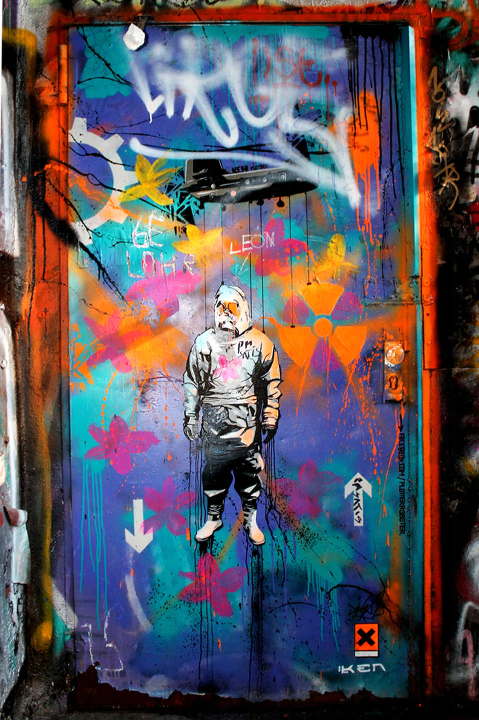 Street Art inside the Tacheles in Berlin by Plotbot KEN