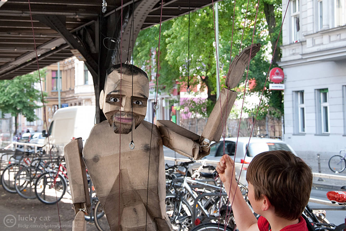 "Puppet ""Heinrich"" by Street Art Duo Various and Gould in Berlin."