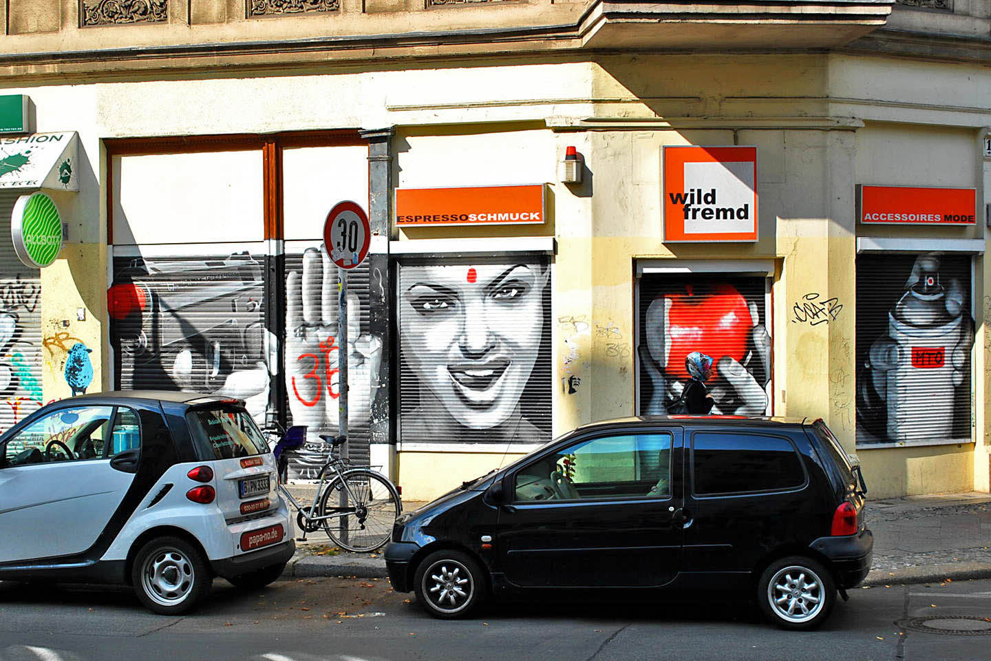 Portrait of Angelina Jolie made by Belin based Street Artist MTO