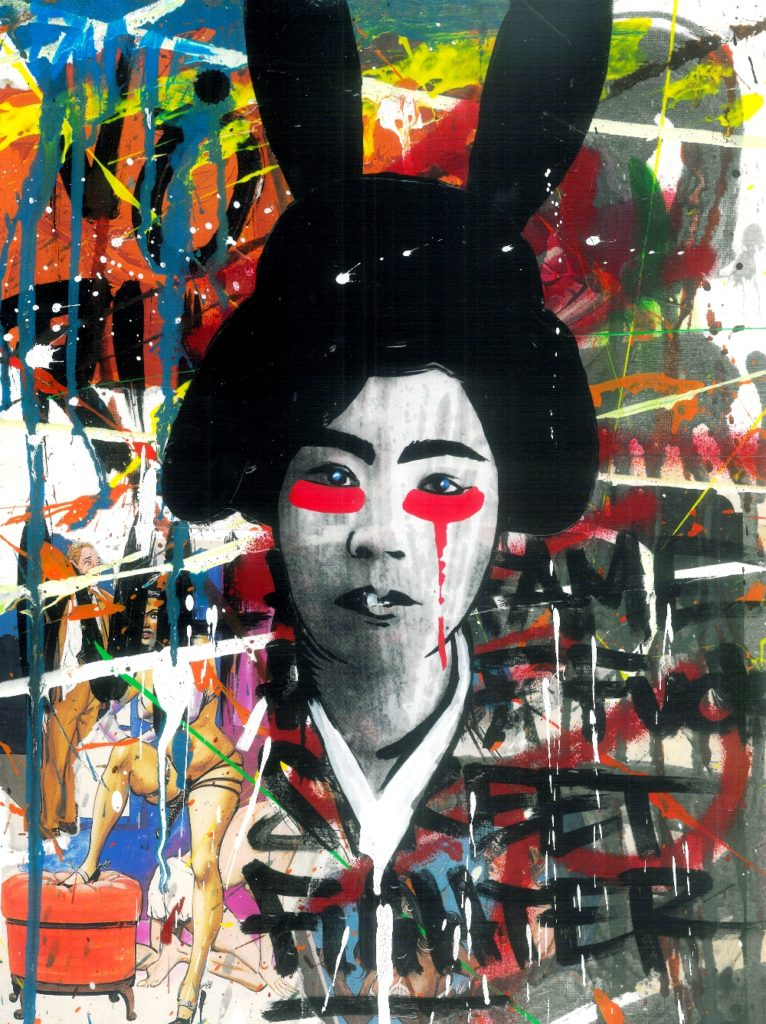 Ron Miller: Geisha, flagship motive of the current exhibition at Factory Berlin