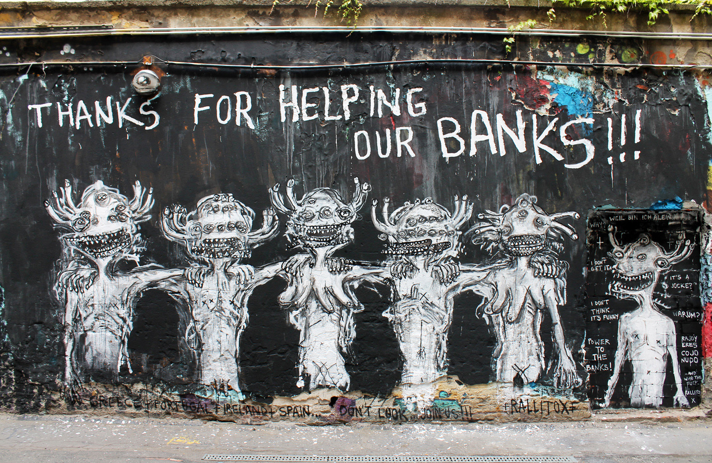 Street Art Berlin - Rallitox: Thanks for helping our Banks - Photos and Report by Street Art BLN