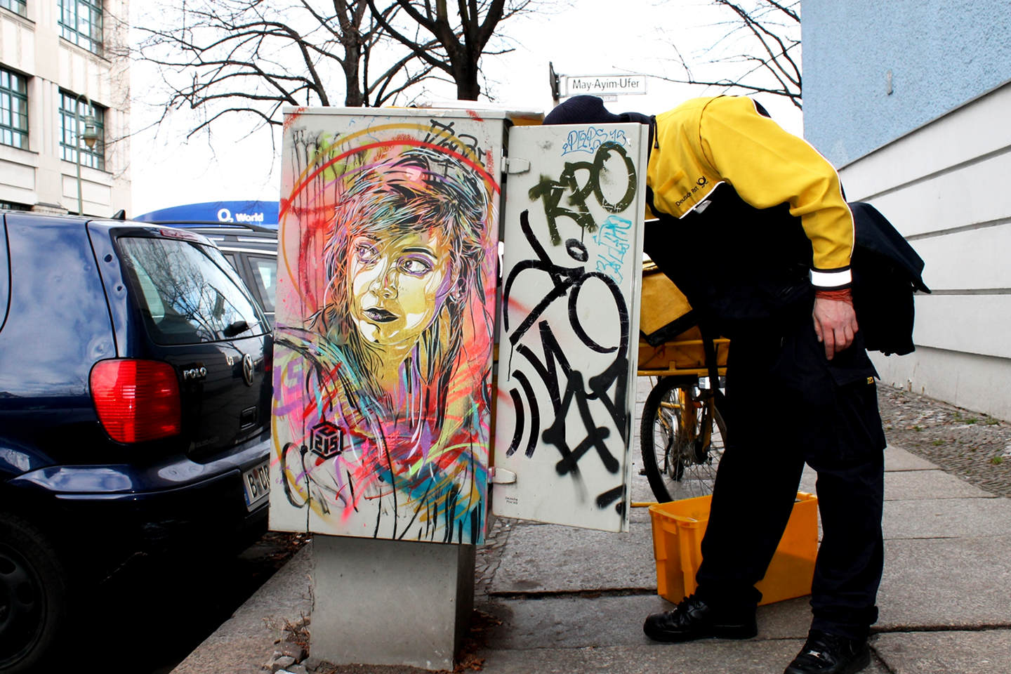 C215 - Street Art Berlin - Post Box