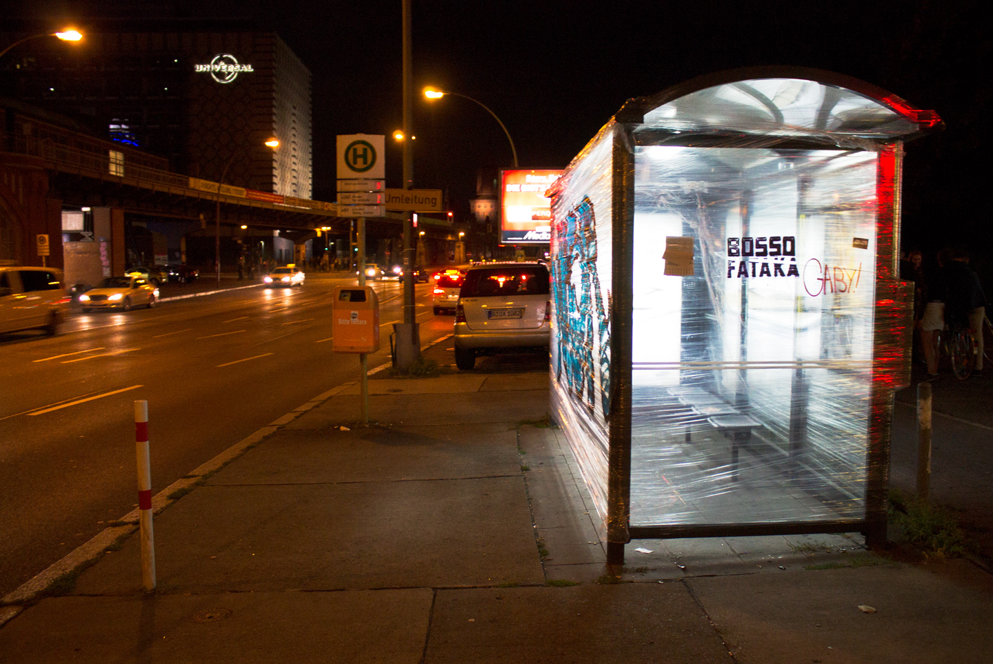 Bus Stop Instalation by Berlin based Street Art Team Bosso Fataka