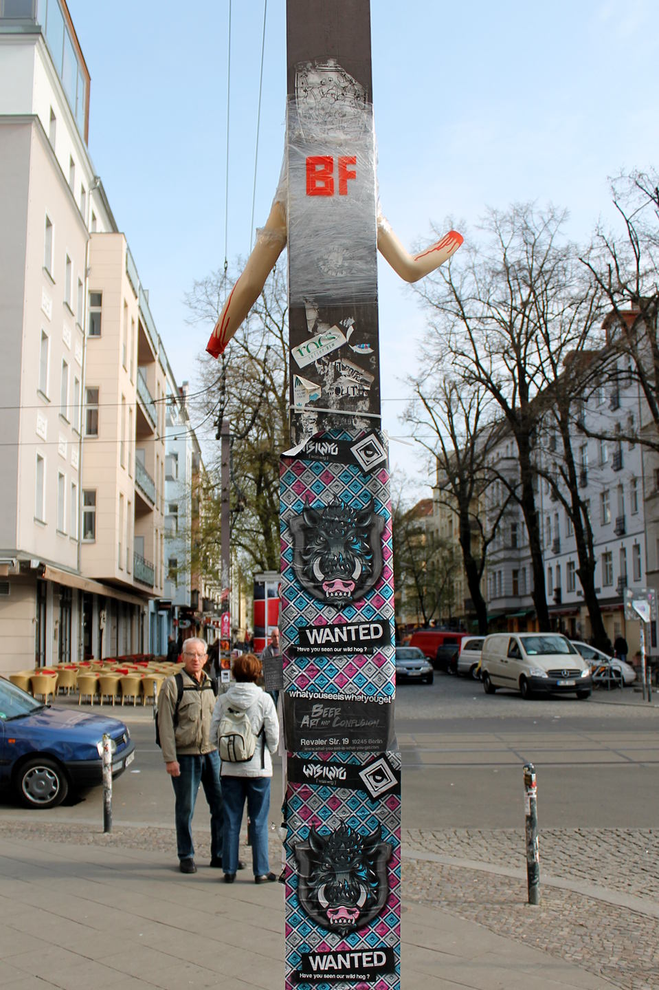 Arms Instalation by Berlin based Street Art Team Bosso Fataka