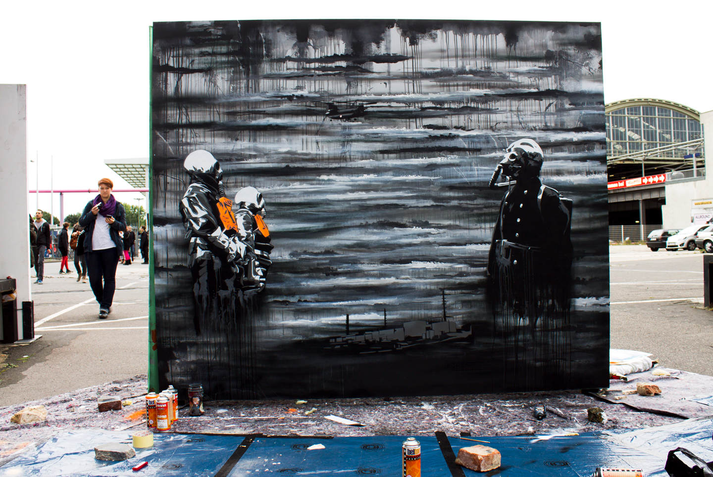 Street Art at the Stroke Urban Art Fair in Berlin by Plotbot KEN