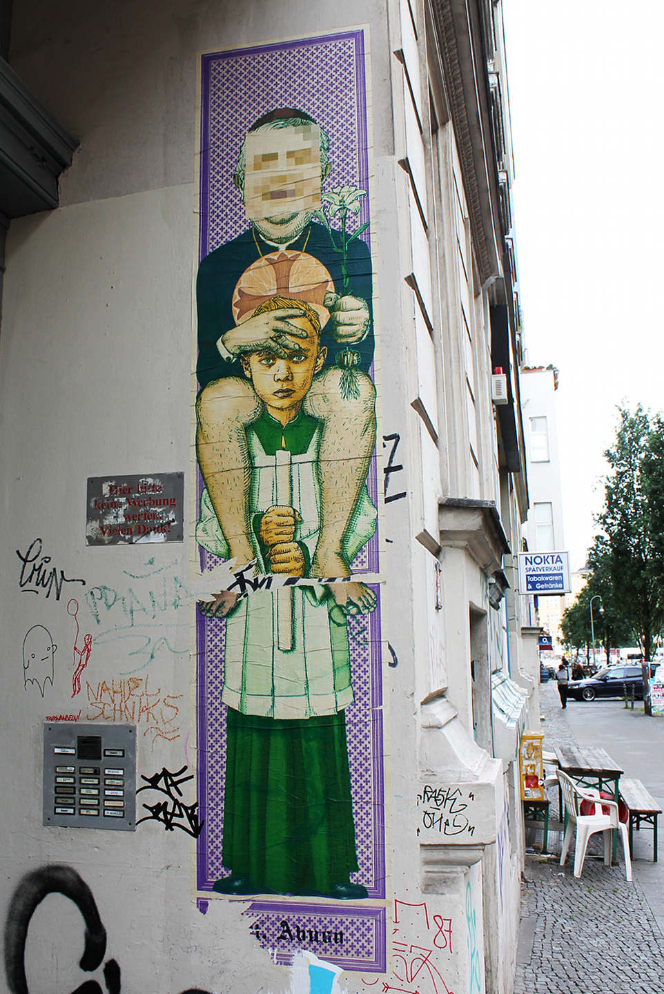 Santa Abuso of the Sant Nimmerlein series by Berlin based Street Art team Various and Gould