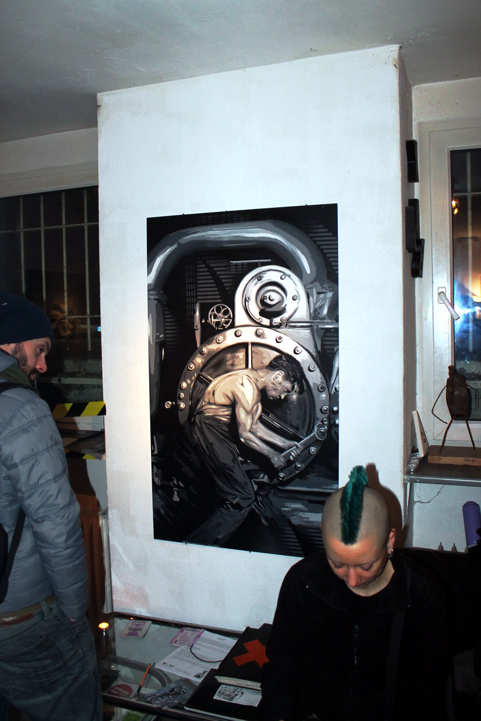 Solo show by Berlin based Street Artist Plotbot KEN in the XLAB Berlin-Kreuzberg