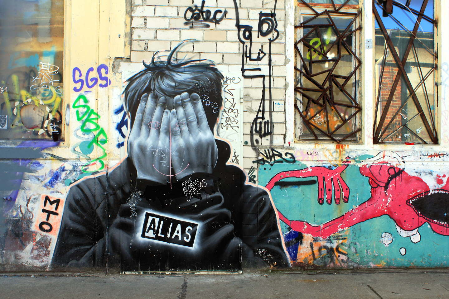 Portrait of Street Artist Alias made by Belin based Street Artist MTO