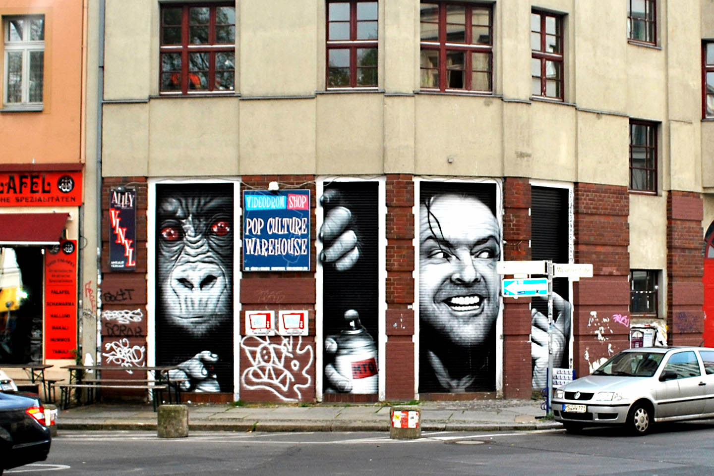 Portrait of Jack Nichelson made by Belin based Street Artist MTO