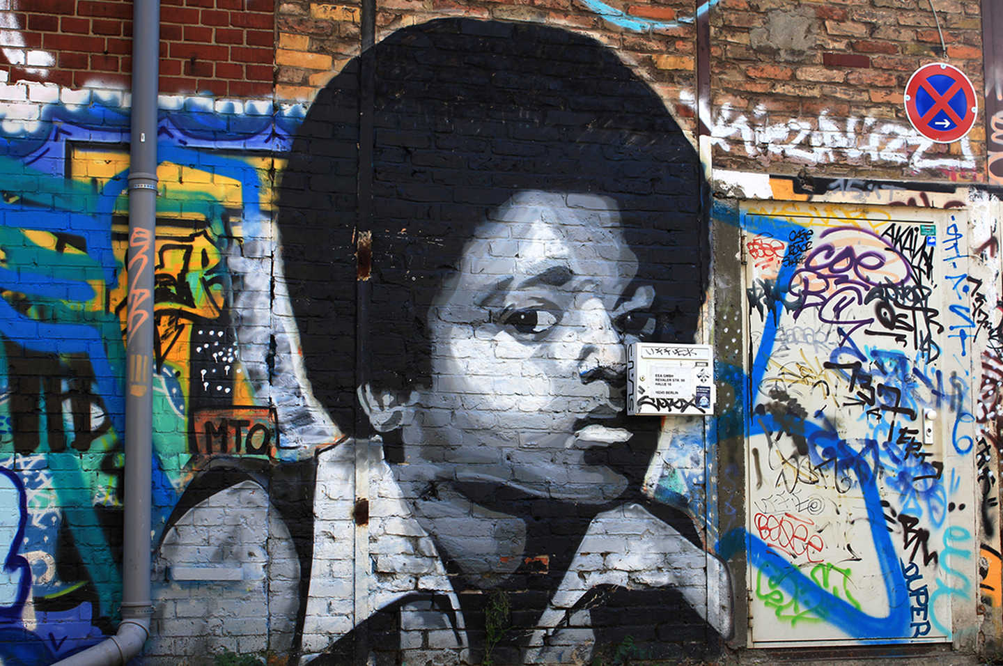 Portrait of Michael Jackson made by Belin based Street Artist MTO