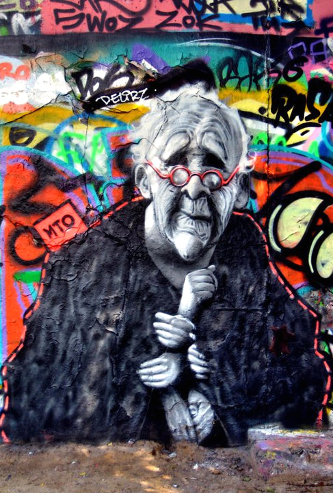 Portrait of Street Artist Neozoon made by Belin based Street Artist MTO
