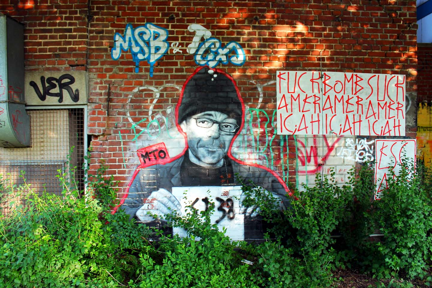 Portrait of Street Artist SP38 made by Belin based Street Artist MTO