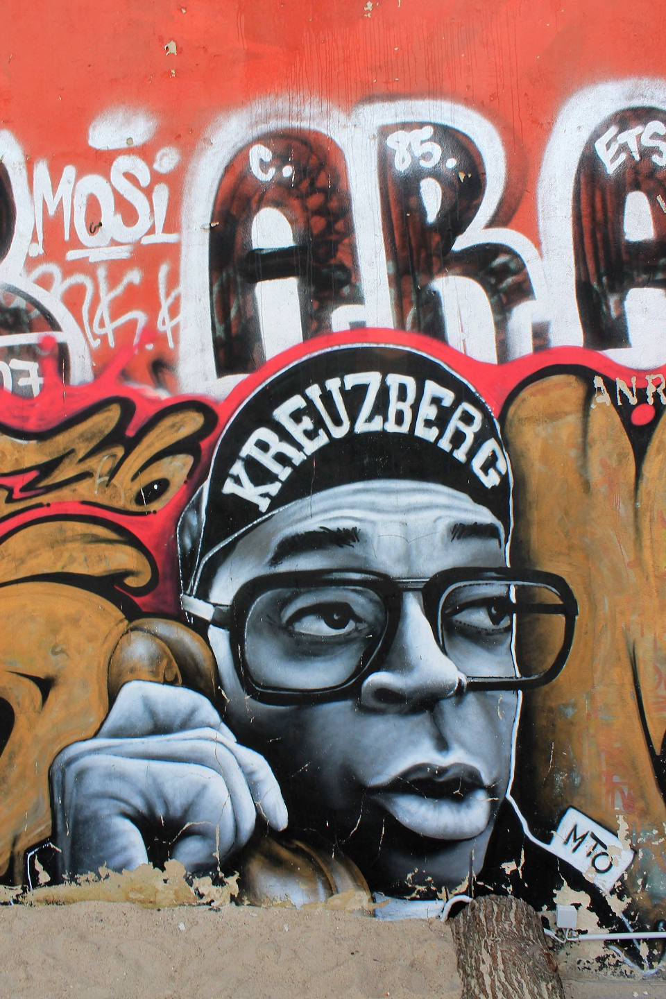 Portrait of Spike Lee made by Belin based Street Artist MTO