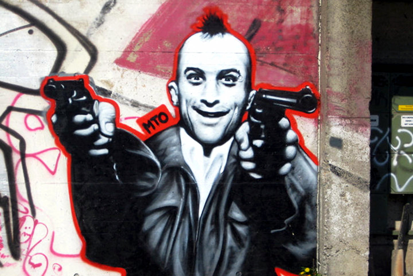 Robert Deniro, taxi driver made by Belin based Street Artist MTO