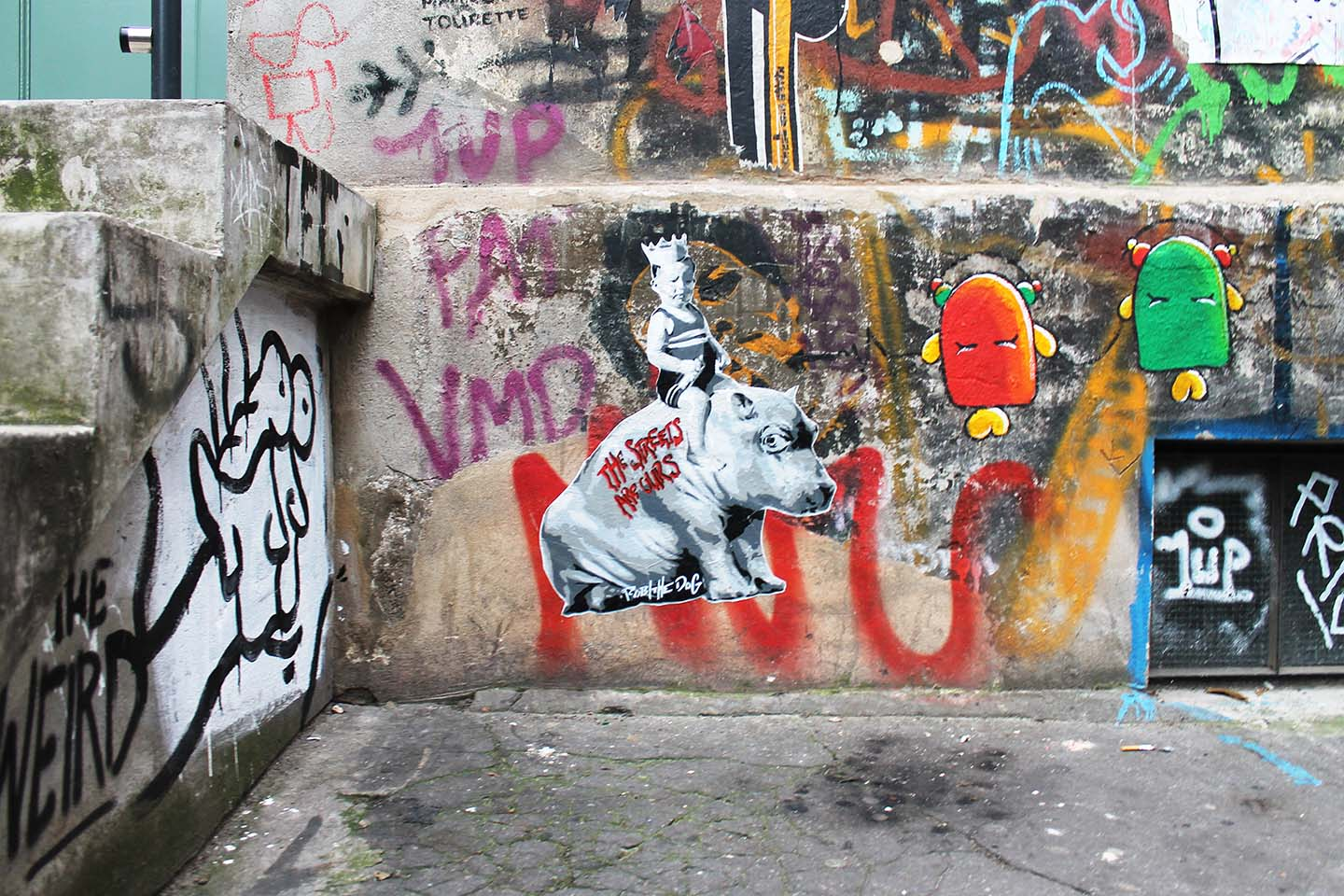 Hippo - The Streets are ours from Street Artist Robi the Dog in Berlin