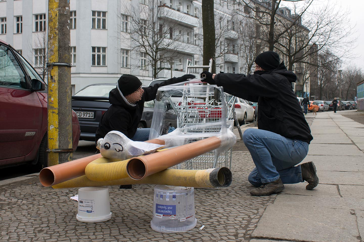 The Nuclear Man installation by Berlin based Street Artists Bosso Fataka