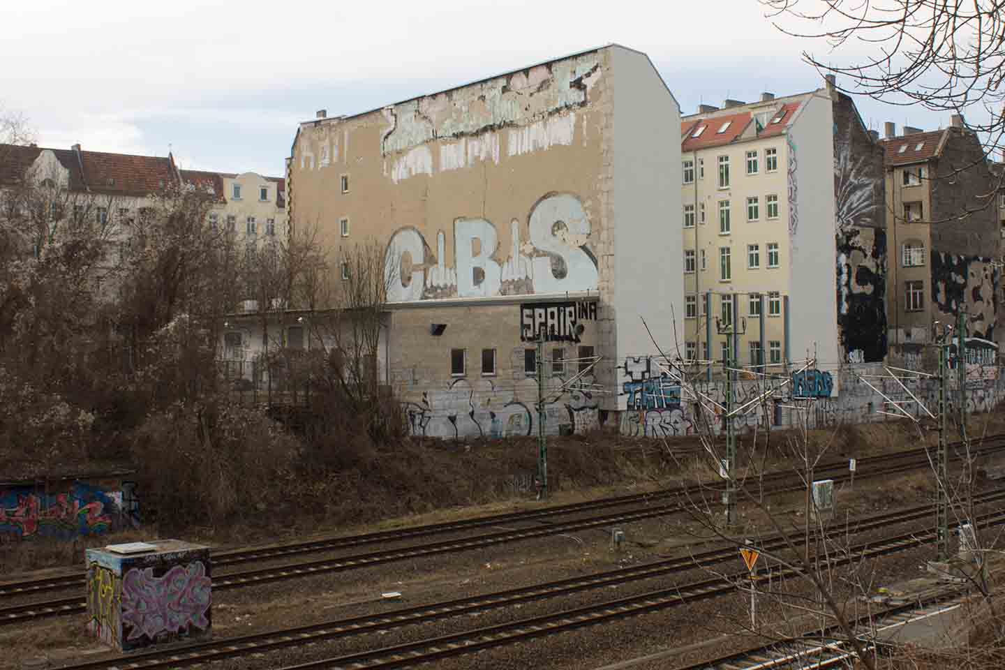 CBS Crew (Cowboys)  Roll on Bombing near Schnoenhauser Alle station in Berlin. Graffiti photo by Street Art Berlin
