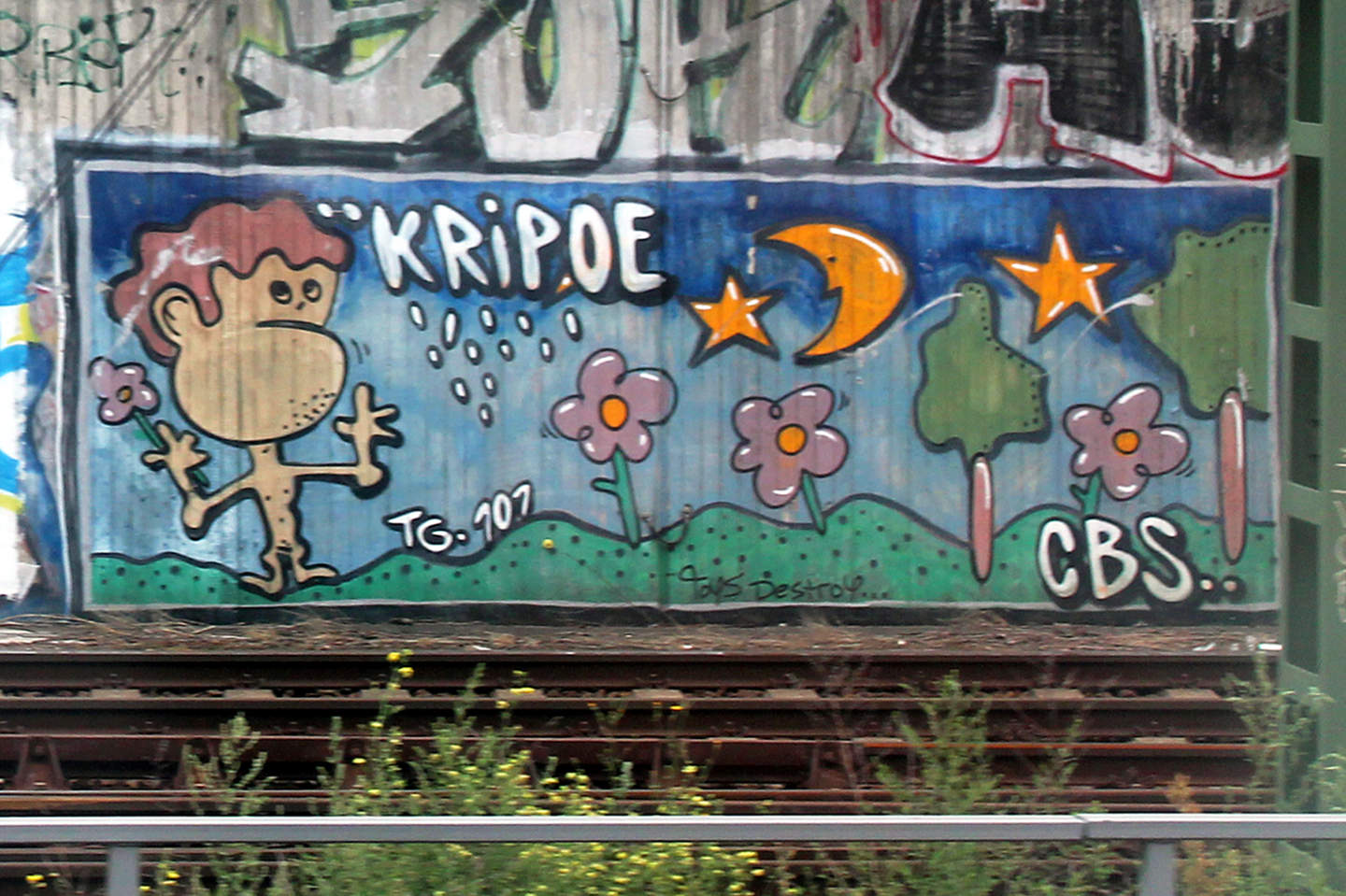 "Kripoe CBS Crew (Cowboys) ""Kripoe""  piece near Schnoenhauser Alle station in Berlin. Graffiti photo by Street Art Berlin"