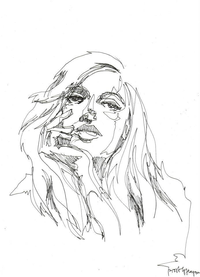 Line Drawing Of Artist : Between the lines oneliner exhibition by berlin based