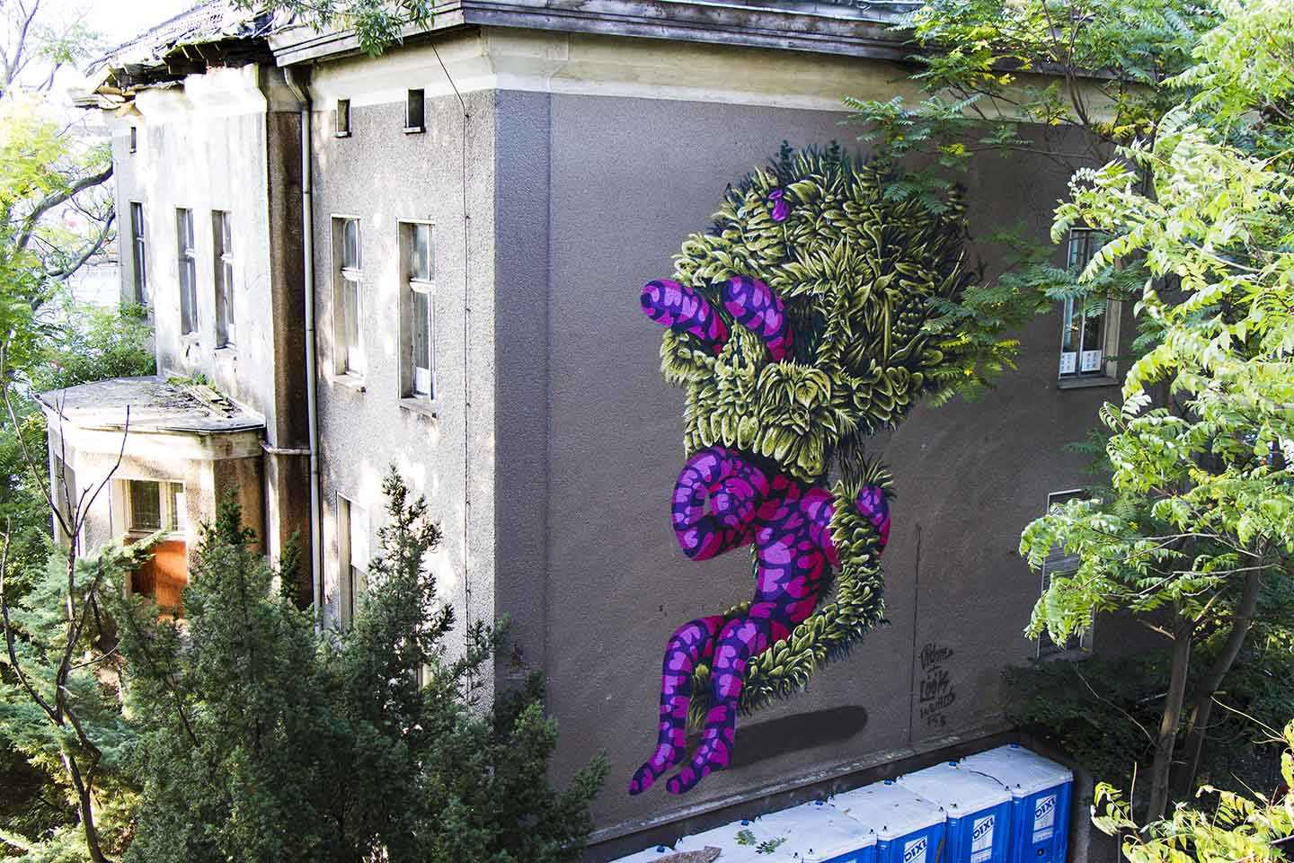 "Mural by Berlin based Street Artist ""Vidan - The Weird"" at Cons Space 2013"