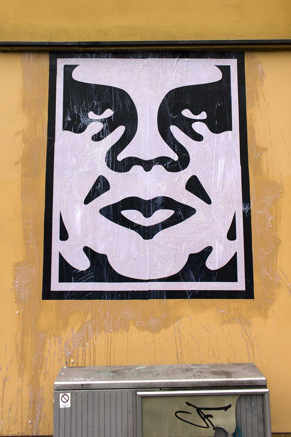 Shepard Fairey aka. Obey - Andre The Giant - Streetart Berlin