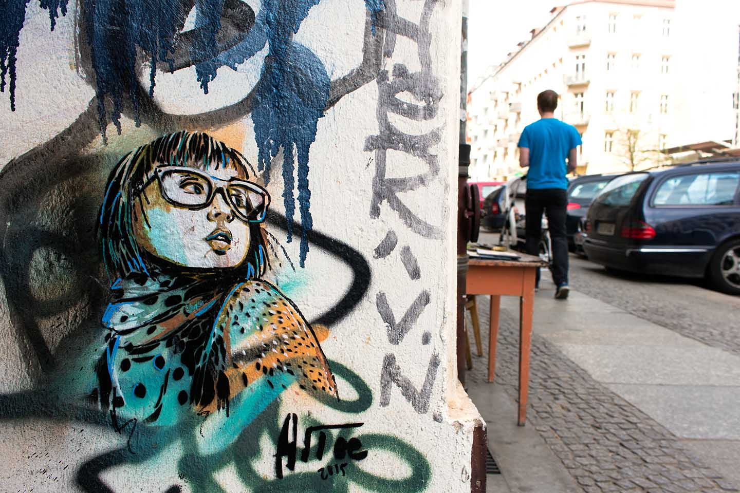 Alice Pasquini Girl Streetart in Berlin 2015