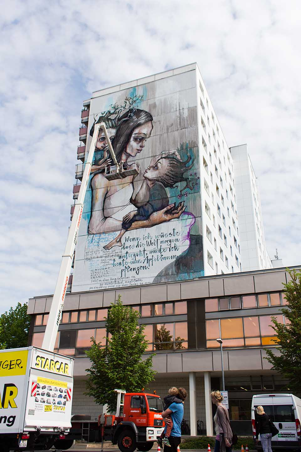 Herakut Street Art Mural in Berlin