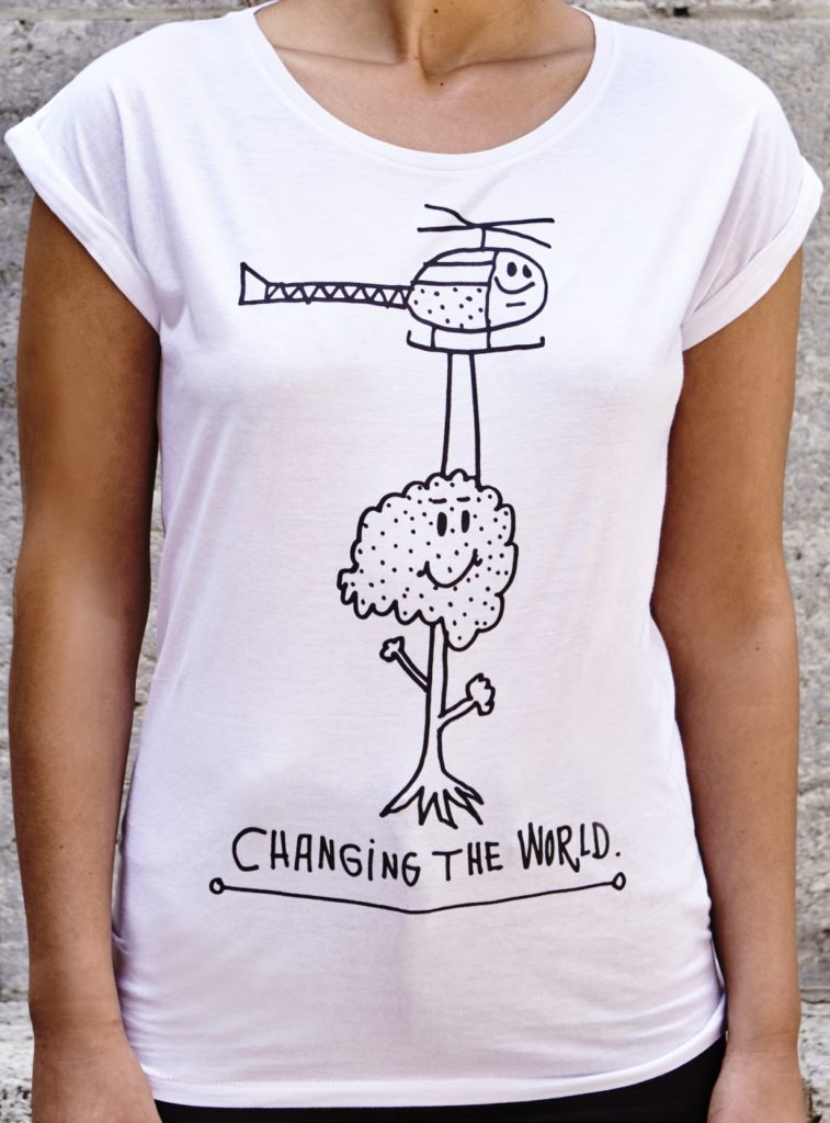 Changing the World (black) design by 44 Flavours