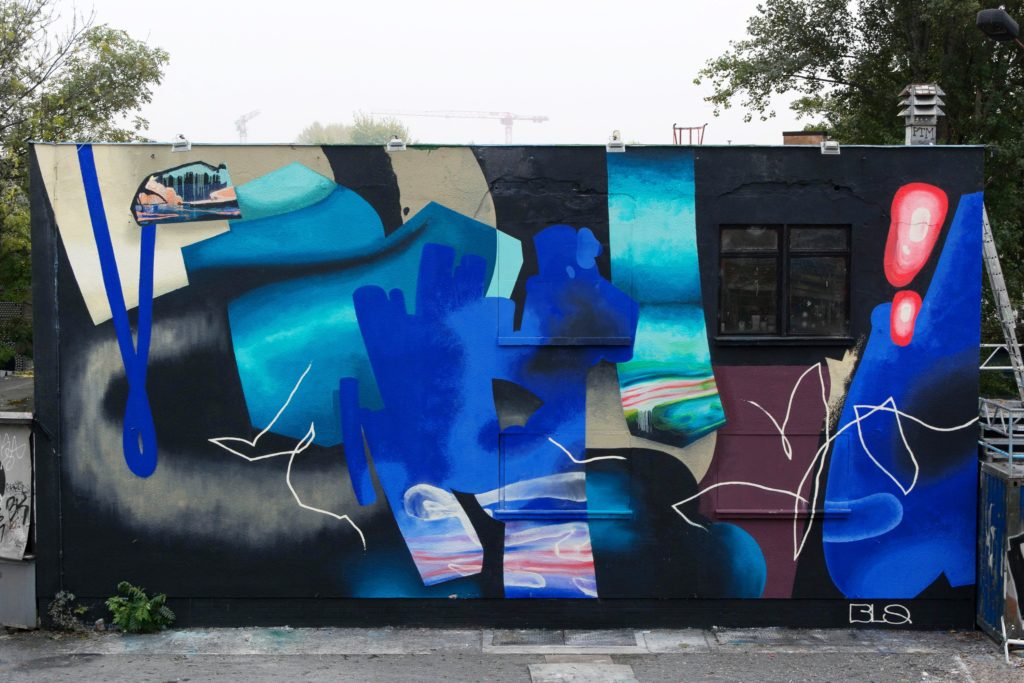 Finished mural of BLO at Urban Spree