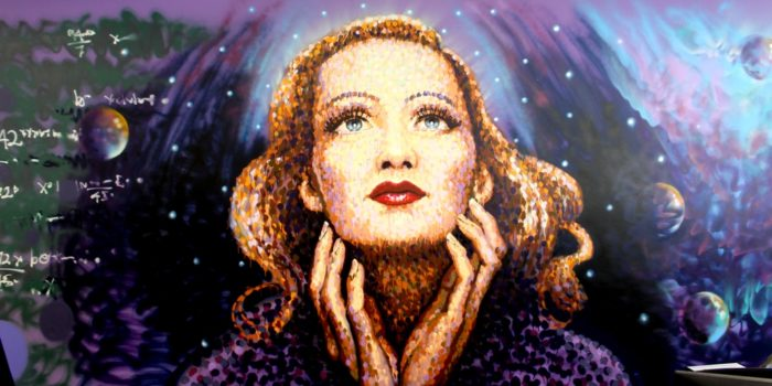 Portrait of Marlene Dietrich by street artist Jimmy C