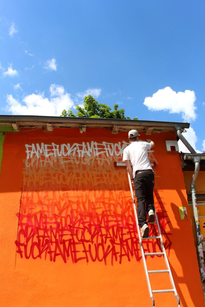 Ron Miller: Perfect weather for painting a mural in Berlin