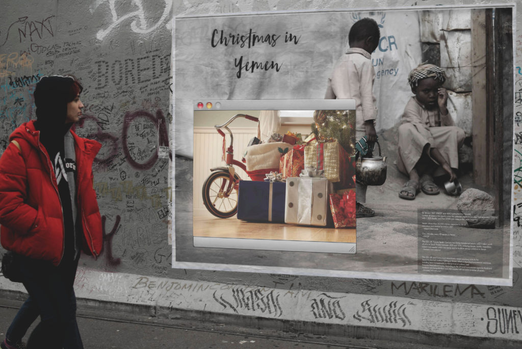 Igor Dobrowolski christmas in Yemen another adbusting